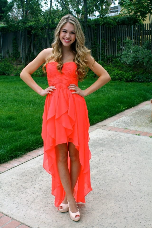 Sweetheart Chiffon Prom Dress, High Low Short Prom Dress, Simple ...